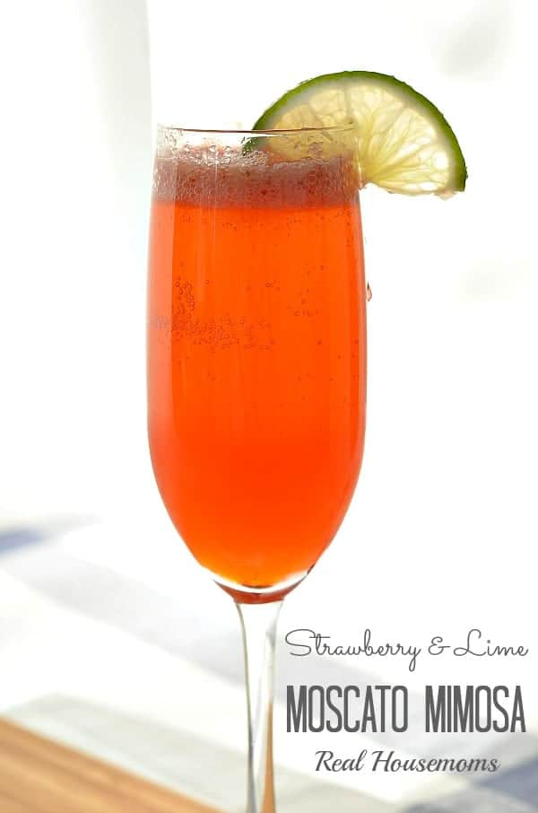 Strawberry and Lime Moscato Mimosa_Real Housemoms