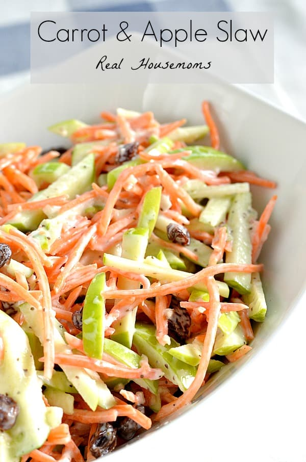Carrot and Apple Slaw   Real Housemoms