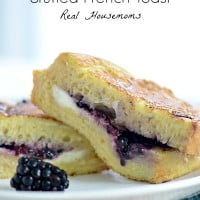 Easy Blackberries and Cream Stuffed French Toast | Real Housemoms