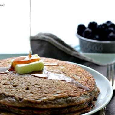 Fluffiest Whole Wheat Oatmeal Blackberry Pancakes Ever!
