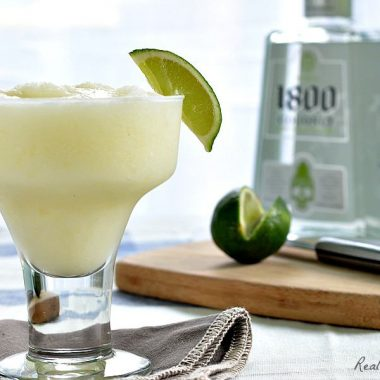 pina-rita cocktail served with lime wedge