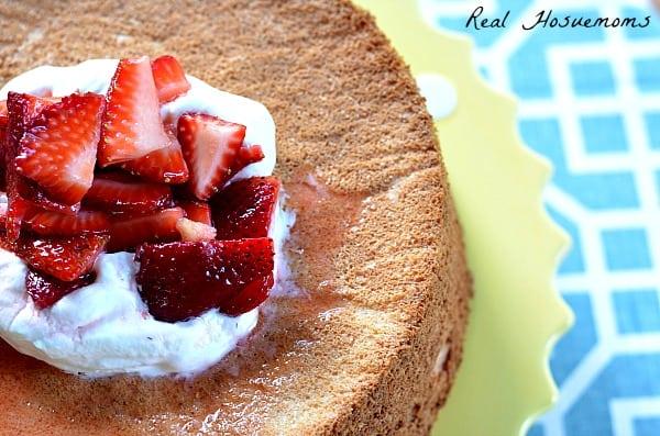 The Best Angel Food Cake   Real Housemoms
