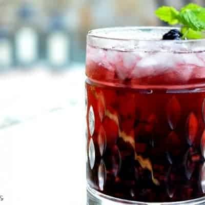 A Spiced Blackberry Cocktail
