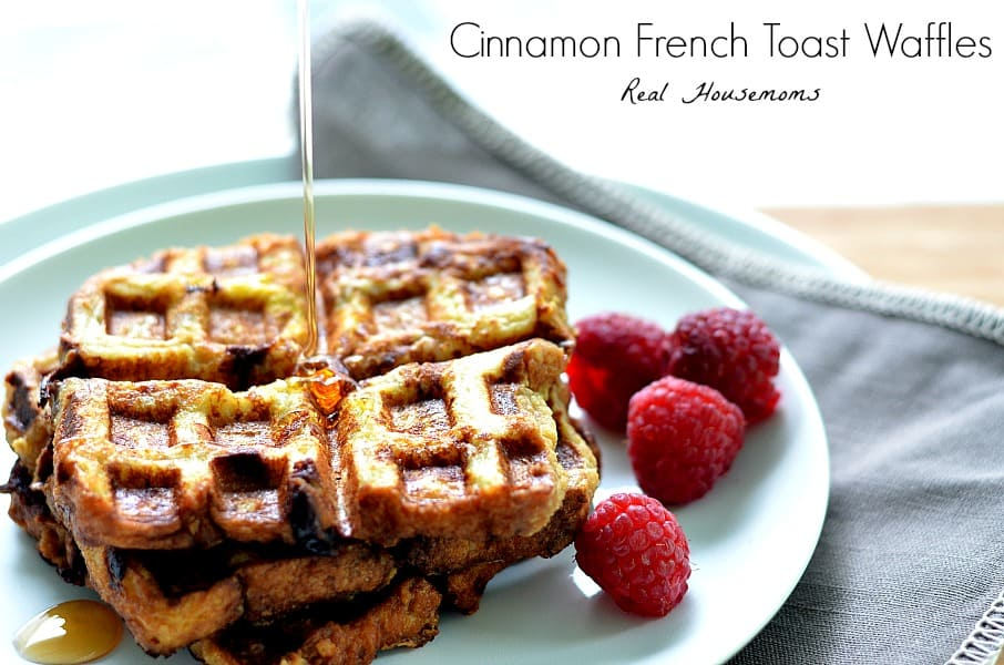 Cinnamon French Toast Waffles - Real Housemoms