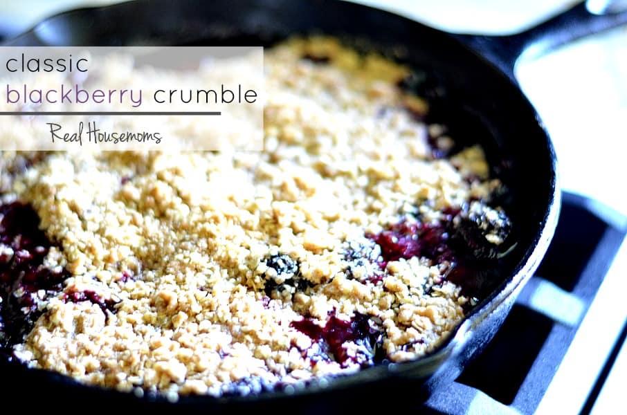 Classic Blackberry Crumble ⋆ Real Housemoms