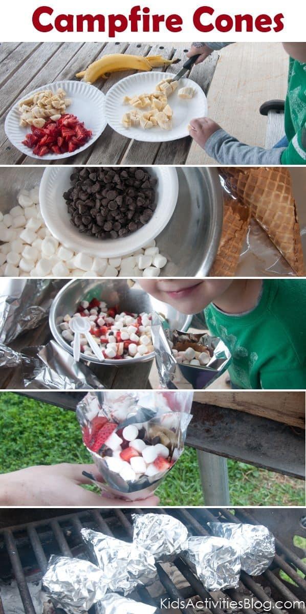 Fruit & Smore Cones
