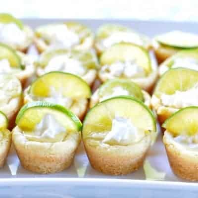 Key Lime Pie Cookie Cups