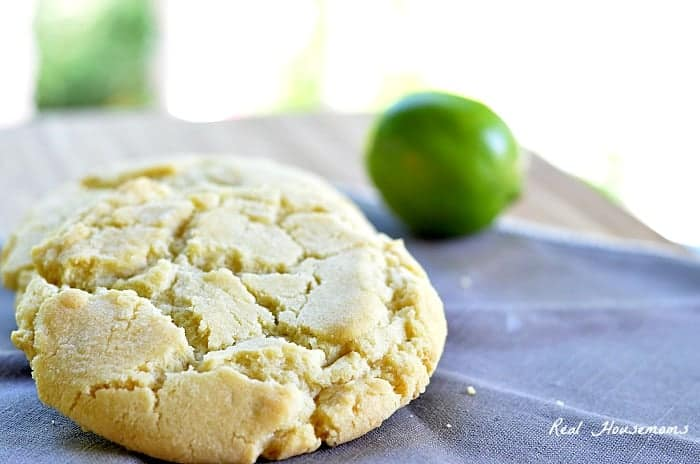 Lime Sugar Cookies photo shows a whole lime in background