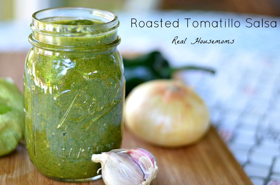 Roasted Tomatillo Salsa - Real Housemoms