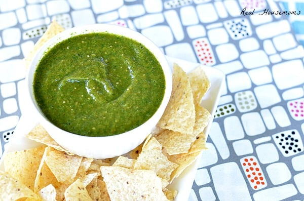 Roasted Tomatillo Salsa | Real Housemoms
