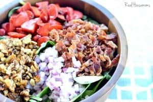 Spinach Bacon and Strawberry Salad | Real Housemoms