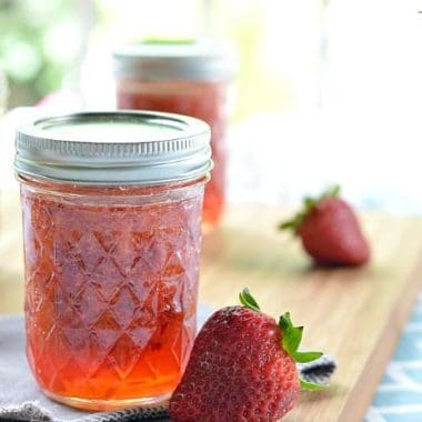 Easy Strawberry and Lime Freezer Jam