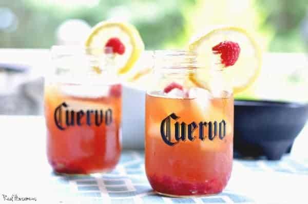 raspberry lemon iced teagarita | Real Housemoms