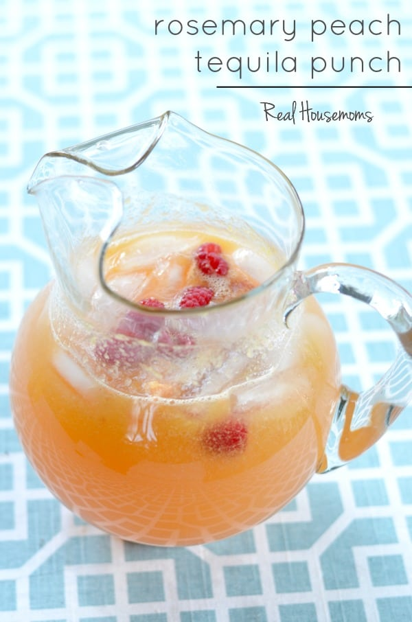 Rosemary Peach Tequila Punch | Real Housemoms