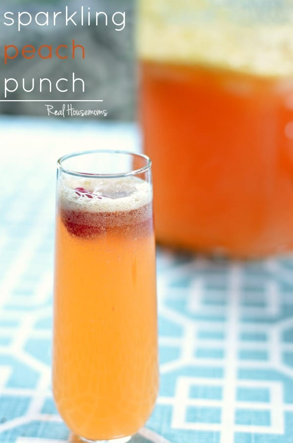 Sparkling Peach Punch | Real Housemoms