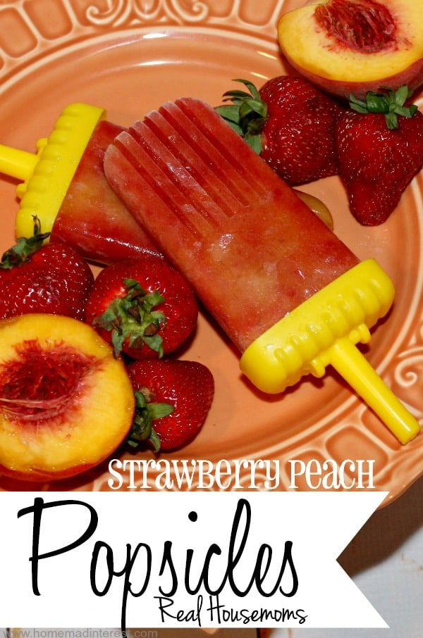 Strawberry Peach Popsicles | Real Housemoms