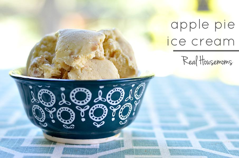 Apple Pie Ice Cream - Real Housemoms
