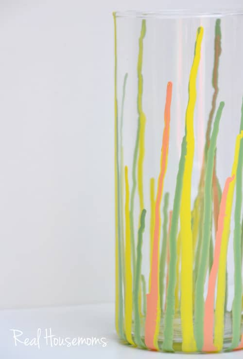 Diy Paint Drip Vase Real Housemoms