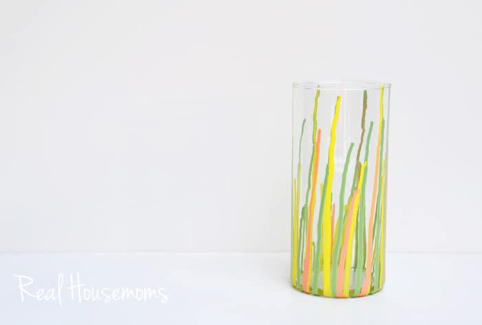 DIY Paint Drip Vase | Real Housemoms