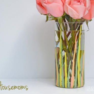 DIY Paint Drip Vase