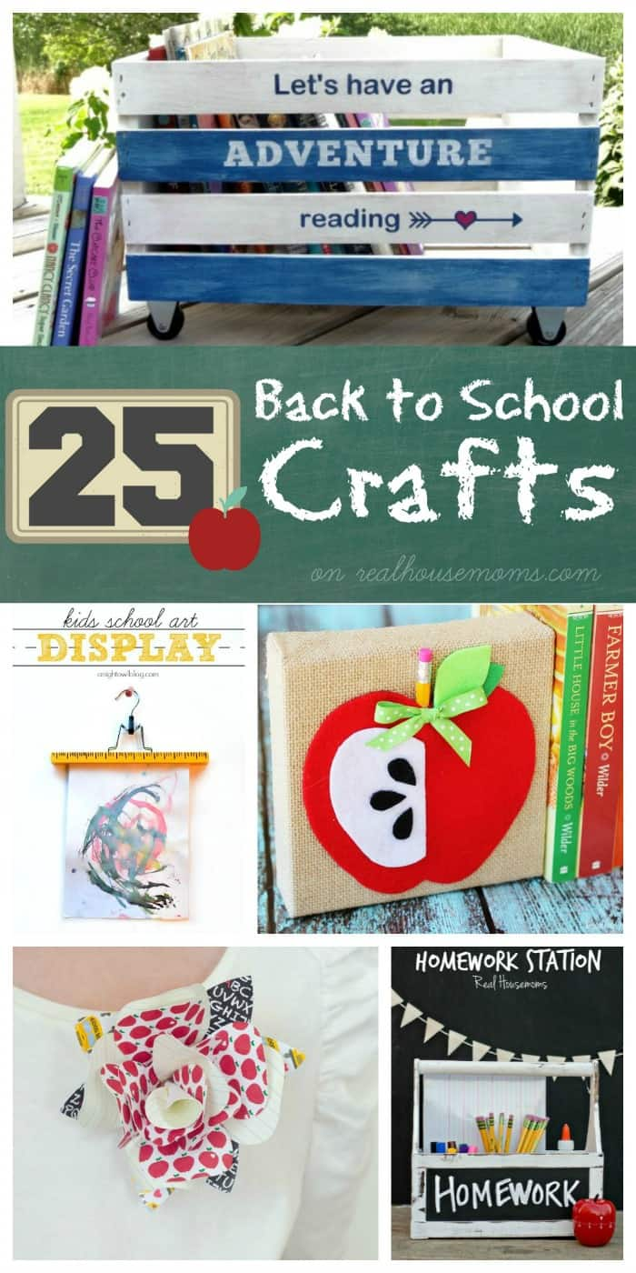 25 Back to School Crafts on Real Housemoms