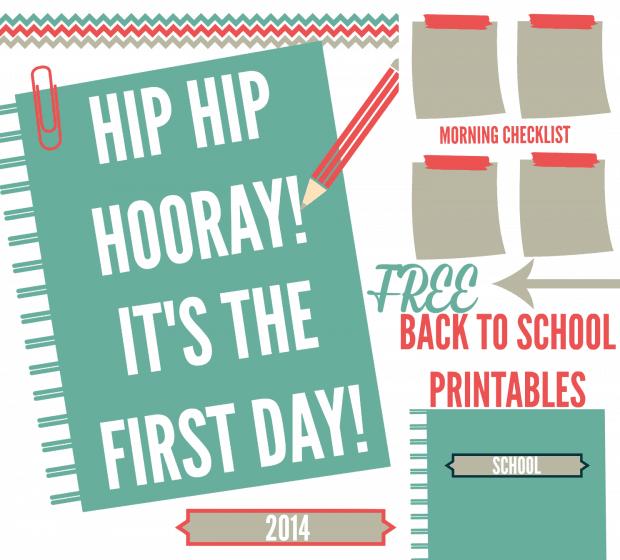 Back to School Free Printables