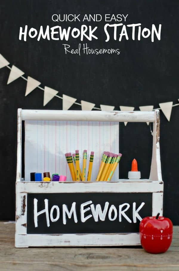 Back to School Homework Station