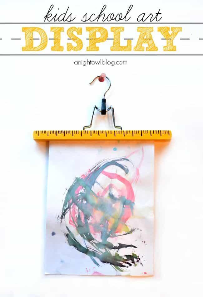 Back to School Kids Art Display