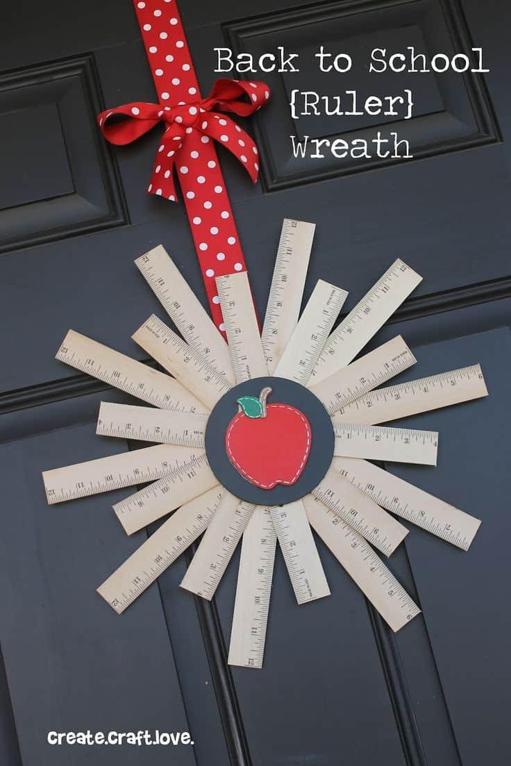 Back to School Ruler Wreath