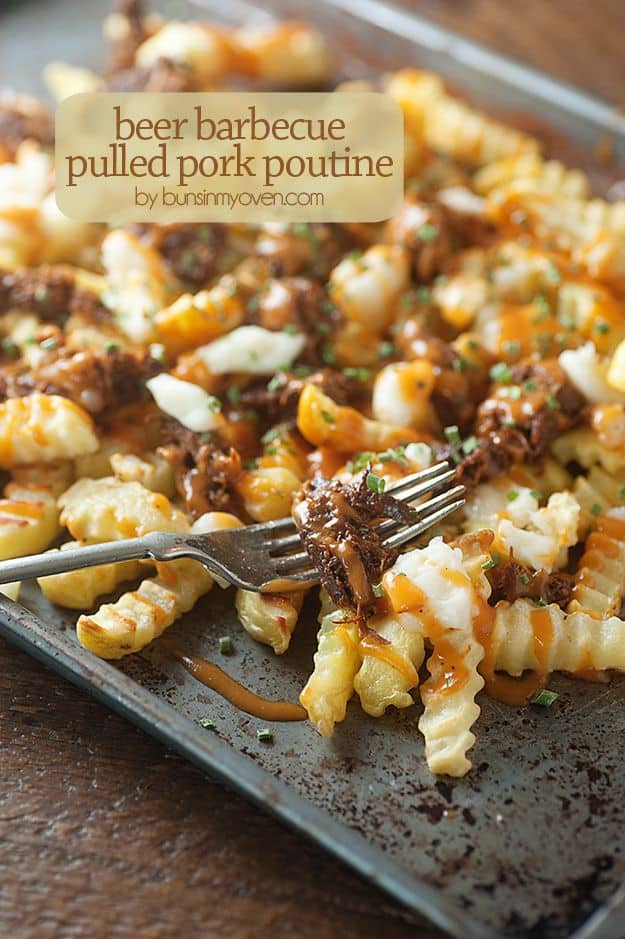 Beer Barbecue Pulled Pork Poutine
