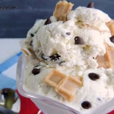 Chocolate Chip Waffle Cone Ice Cream