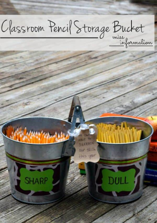 Classroom Pencil Storga Bucket