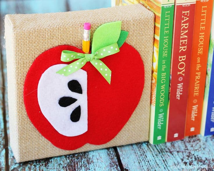DIY Apple Bookends