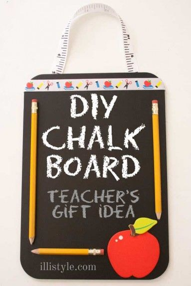 DIY Chalk Board Teachers Gift