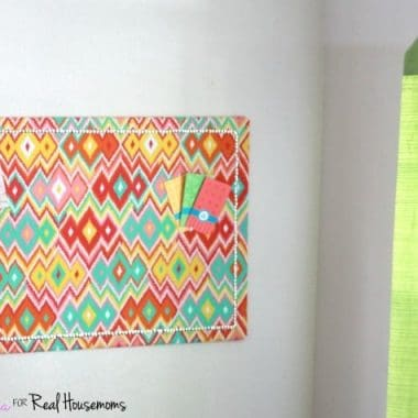Fabric Covered Corkboard DIY