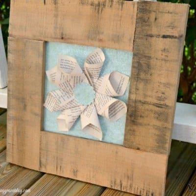 DIY Pallet & Book Page Art