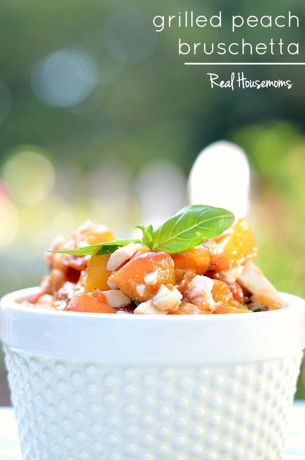 Grilled Peach Bruschetta | Real Housemoms
