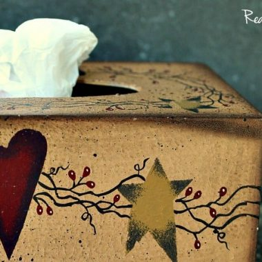 How to make a plastic bag holder wooden tissue box