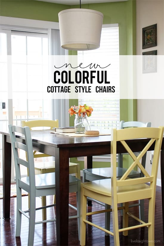 Colorful Cottage Style Chairs