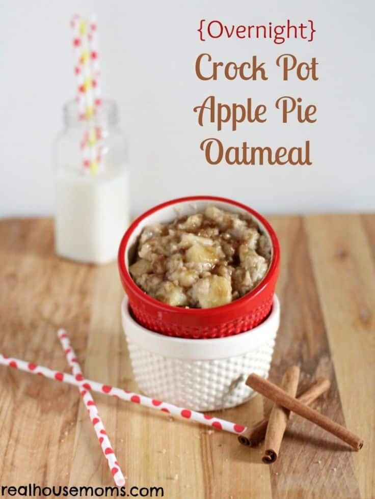 (Overnight) Crock Pot Apple Pie Oatmeal