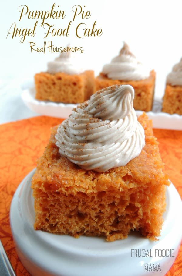 Angel Food Cake With Pumpkin Pie Mix