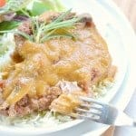 Slow Cooker Pork Chops with Peach Sauce