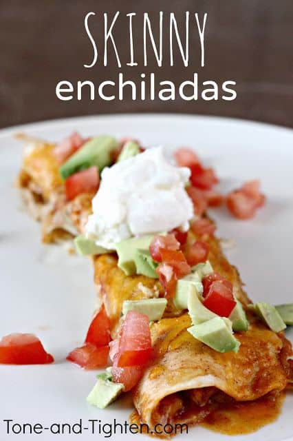 Slow Cooker Skinny Chicken Enchiladas