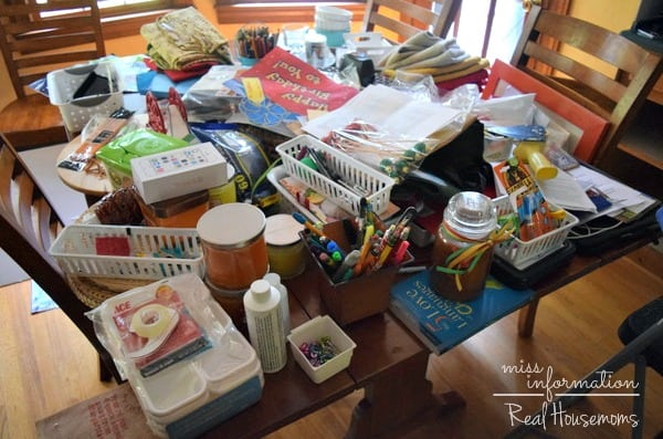 Kitchen Desk Organization - Real Housemoms