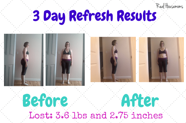 3 Day Refresh Results | Real Housemoms