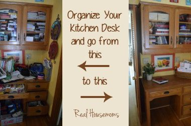 Kitchen Desk Organization