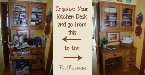 kitchen desk organization real housemoms - Kitchen Desk