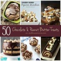 50 Chocolate & Peanut Butter Treats SQUARE