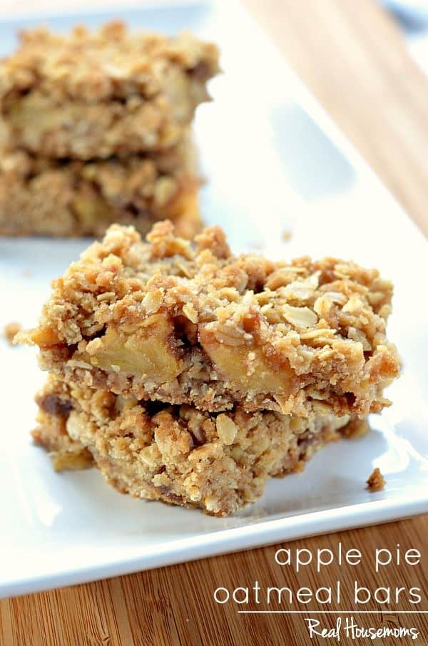 Apple Pie Oatmeal Bars from Real Housemoms