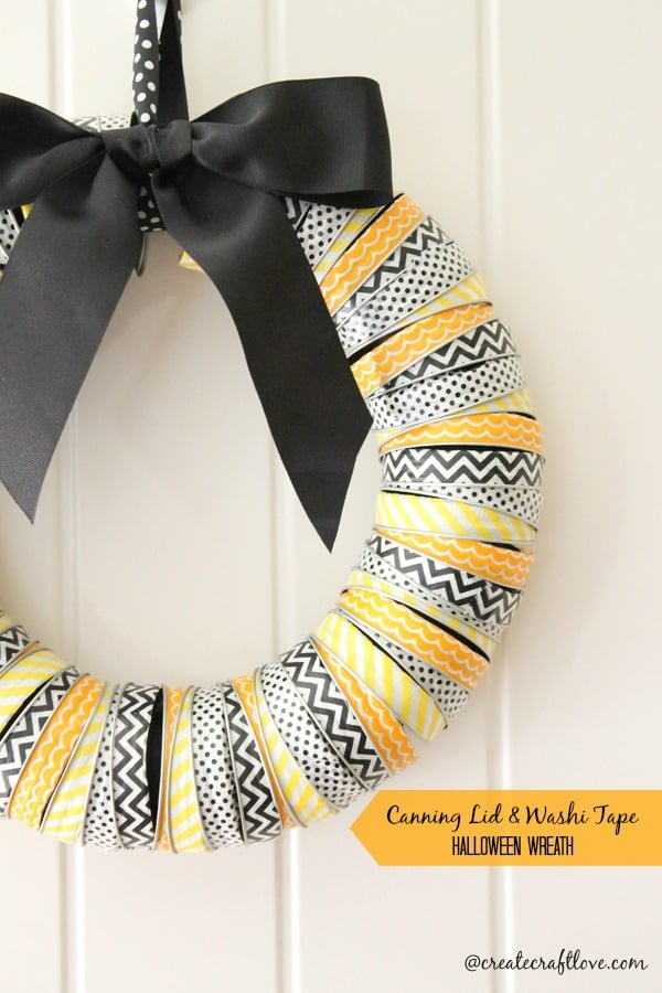 Canning Lid & Washi Tape Wreath